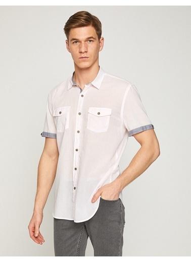 Koton Cep Detaylı Gömlek Pembe
